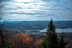 View from a mountain top stock photography