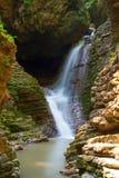 Beautifull waterfall is in Western Caucasus Stock Photography