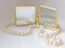 Beautifull white accessories Royalty Free Stock Photo
