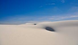 Beautifull white sand dunes stock image