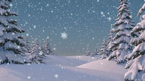 Beautifull Winter Background. Seamless looping 3d animation, 4K. Look for more options in my portfolio