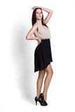 Beautifull woman in black skirt Royalty Free Stock Images