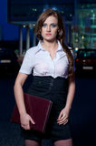 Beautifull woman with a briefcase Royalty Free Stock Photos