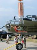 Beautifully återställd nord - bombplan för amerikan B25 Mitchell Arkivbild