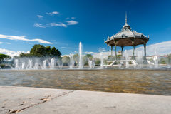 The famous music dome on the `Champ de Mars` of the city Valence Stock Photos