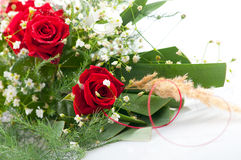 Beautifully arranged bouquet of roses Stock Image