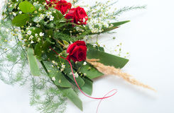 Beautifully arranged bouquet of roses Royalty Free Stock Images