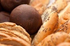 Beautifully arranged bread buns Stock Photos
