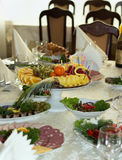 Beautifully banquet table with food Stock Photography