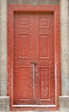 Beautifully carved ancient door of a church Stock Images