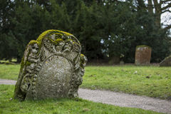 Beautifully carved headstone. Royalty Free Stock Images