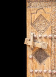 Beautifully Carved Right Half Of Ancient Door Stock Images