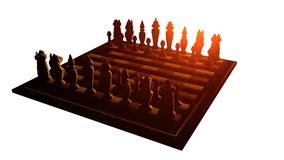 Beautifully chess in the rays Royalty Free Stock Images