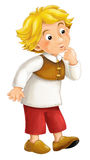 Beautifully colored cartoon character - young boy -  Royalty Free Stock Image