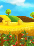 Beautifully colored farm scene - rural Royalty Free Stock Photo