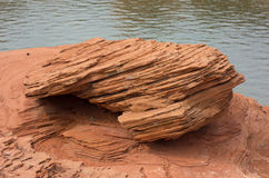 Beautifully colored and layered sandstone in arizona royalty free stock photography