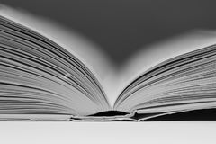 Shallow Depth of Field Open Paged Book. A beautifully composed image of an open book, using a shallow depth of field I was able create a very strong focal point Stock Photos