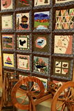 Beautifully crafted quilt on display,Adirondack Folk School, Lake Luzerne,2015 Royalty Free Stock Photography