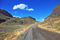 Beautifully curved gravel road Stock Photography