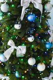 Beautifully decorated Christmas tree Stock Images