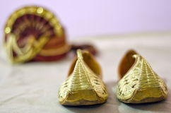 Beautifully decorated groom's turban Stock Photos