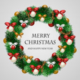 Beautifully Decorated Holiday Christmas Wreath Stock Images