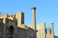 Ulugbek Madrasah on Registan Square in Samarkand, Uzbekistan Royalty Free Stock Photo