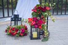 Beautifully decorated outdoor hanging lantern Stock Photo