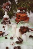Winter wedding table royalty free stock image