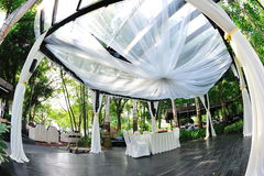 Beautifully decorated pavilion for wedding Stock Photography