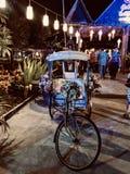 Beautifully decorated rickshaw