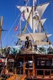 Beautifully decorated sailboats,   Alanya, Turkey Royalty Free Stock Image