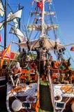 Beautifully decorated sailboats,   Alanya, Turkey Stock Photo