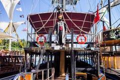 Beautifully decorated sailboats,   Alanya, Turkey Royalty Free Stock Photo