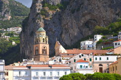 Beautifully decorated saint Andrew cathedral in amalfi, Italy Stock Image