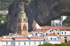 Beautifully decorated saint Andrew cathedral in amalfi, Italy Royalty Free Stock Images