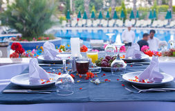 Beautifully decorated table Royalty Free Stock Photo