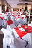 Beautifully decorated tables Royalty Free Stock Photography