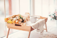 Beautifully decorated tray Royalty Free Stock Photos