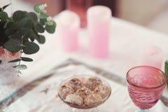 Beautifully decorated tray Stock Photos
