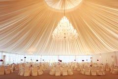 Beautifully decorated wedding restaurant Royalty Free Stock Image