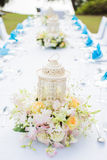 Beautifully decorated wedding table Royalty Free Stock Images