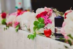 Beautifully decorated wedding table Stock Image