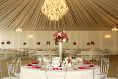 Beautifully decorated wedding table Royalty Free Stock Photography