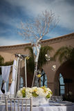 Beautifully Decorated Wedding Venue Stock Photo