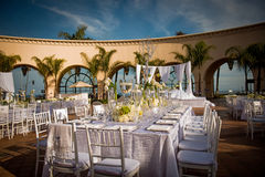 Beautifully Decorated Wedding Venue Stock Photos