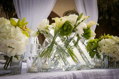 Beautifully Decorated Wedding Venue Stock Image