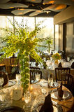 Beautifully Decorated Wedding Venue Stock Images