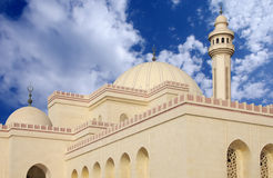 Beautifully designed domes and minaret of mosque Stock Image