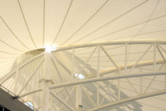 Beautifully designed roof of grandstand in BIC Stock Photography